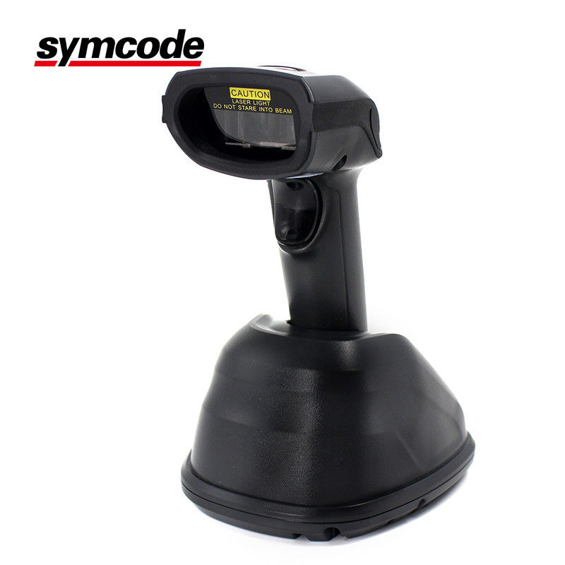 Wireless Hands Free Barcode Scanner / 1D Laser Scanner Long Distance Transmission