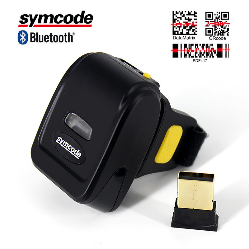 CMOS QR Ring Code Scanner Wireless 512KB Memory For Mobile Phone Screen Scanning